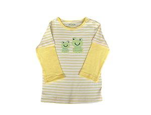Camiseta Bebê Manga Longa Sapinhos