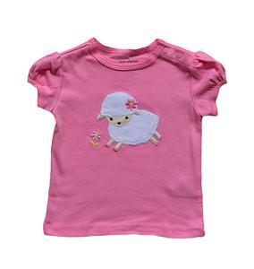 Camiseta Bebê Pink Ovelhinha
