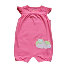 Macaquinho Bebê Pink com Moranguinhos