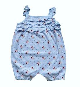 Macaquinho Bebê Azul com Sorvetinhos