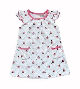 Vestido Bebê com Moranguinhos