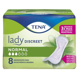 ABSORVENTE TENA LADY DISCREET NORMAL - 8 UNIDADES