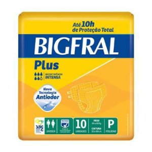 FRALDA GERIÁTRICA BIGFRAL PLUS - tam. P - 10 unid.