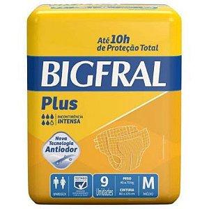 FRALDA GERIÁTRICA BIGFRAL PLUS - tam. M - 9 unid.