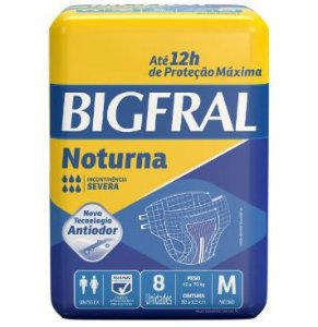 FRALDA GERIÁTRICA BIGFRAL NOTURNA - tam. M - 8 unid.