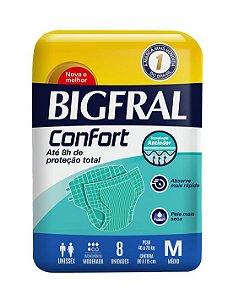 FRALDA GERIÁTRICA BIGFRAL CONFORT - tam. M - 8 unid.