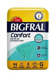 FRALDA GERIÁTRICA BIGFRAL CONFORT - tam. G - 8 unid.