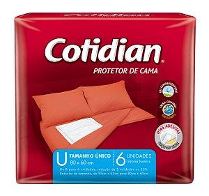 PROTETOR DE CAMA COTIDIAN - 6 UNIDADES