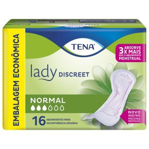 ABSORVENTE TENA LADY DISCREET NORMAL - 16 UNIDADES