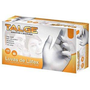 LUVA DESCARTÁVEL DE LATEX COM PÓ TALGE