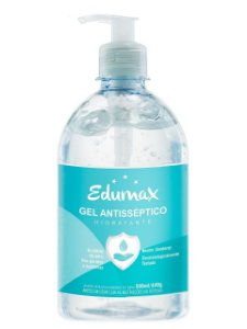 ÁLCOOL GEL ANTISSÉPTICO COM PUMP EDUMAX 70% - 500ml