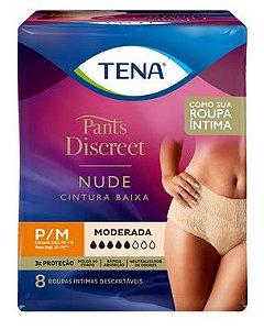 ROUPA ÍNTIMA TENA PANTS DISCREET NUDE - 8 unid.