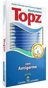 HASTE FLEXÍVEL COM PONTA DE ALGODÃO TOPZ - 75 UNIDADES