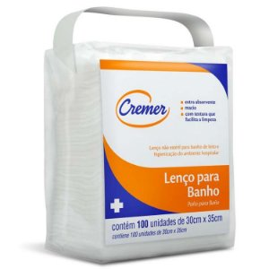 LENÇO PARA BANHO CREMER - 100 unid.