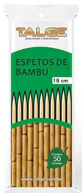 ESPETO DE BAMBU TALGE 18cm - 50 UNID.