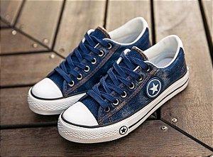 Tênis Casual Jeans Lavado Star duas Cores