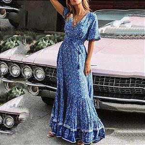 Vestido Longo Floral Hippie Chic