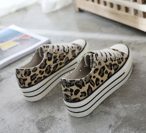 Tênis Plataforma Casual Animal Print