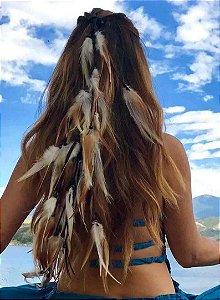 Enfeite de Cabelo Headband com Penas