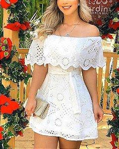 Vestido Curto Branco Laise