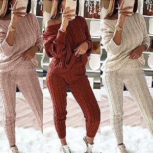 Conjunto Feminino de Inverno em Lã