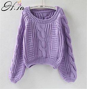Suéter de Tricô Ponto Diferenciado