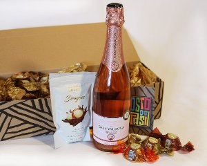 Kit Rosé com Chocolates