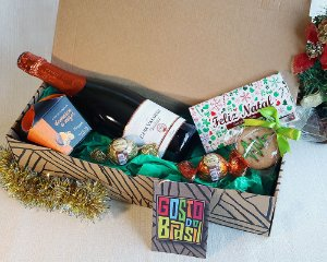 Kit Natal com Damascos e Espumante Brut (750ml)