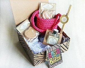 Kit Cheirinho Rosa com Bolsa