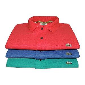 Kit Com 3 Camisa Polo Manga Curta Lacoste