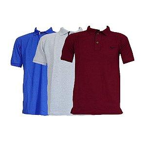 Kit Com 3 Camisa Polo Manga Curta Nike