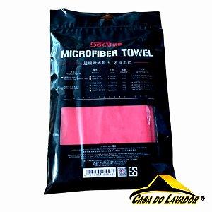 Toalha de Microfibra Vermelha 96GSM (40X60), SGCB