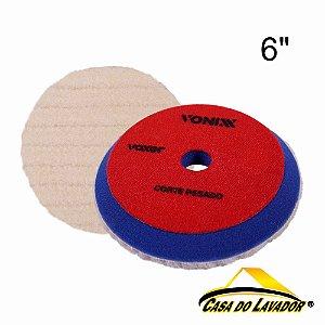 """Boina Voxer de Lã com Esponja 6"""" Vonixx"""