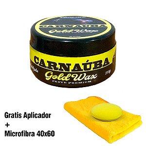 Cera de Carnaúba Artesanal Gold Wax - 200g + Microfibra + Aplicador