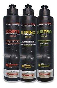 Combo Polimento Corte - Refino - Lustro Menzerna 300ml