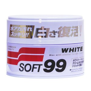 Cera Japonesa White Cleaner Soft99 Carros Claros 350g