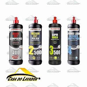 Combo Polimento Menzerna Completo (4 Produtos 250ml)