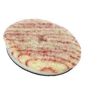 """Boina de Lã Pirulito com Interface para Rotativa Corte Listra Vermelha / Amarela 5,5"""" Lincoln"""