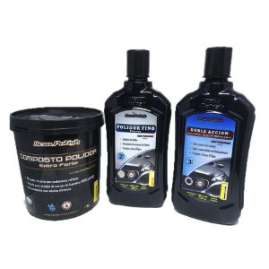 Combo New Polish  - Composto Polidor Extra Forte 1kg + Finesse 500g + Lustrador 500g
