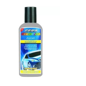 Cera Automotiva Colorida Cinza Autoshine Colorshine 140ml