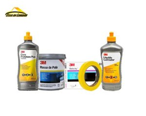 Kit Massa Para Polir 3M Polimento Completo Promoção