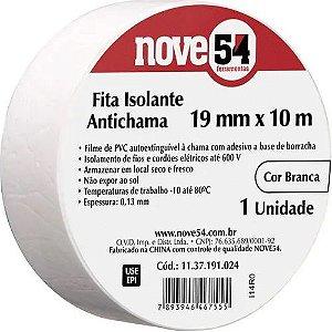 Fita Isolante 19mm X 10m Branca Nove54