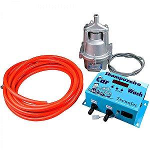 PB150 Cx Shampoozeira eletrônica tecnojet 220v com bomba e mangueiras