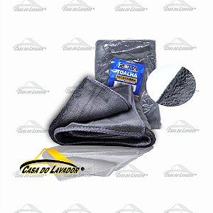 Toalha de Microfibra Cinza 60 X 40CM para Polimento 400GSM  Rotta376