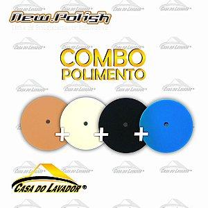 Kit 4 Boinas de Espumas Para Polimento 6,5'' - New Polish