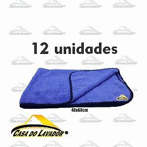 Kit com 12 Flanelas de Microfibra 40x60 Autoamerica