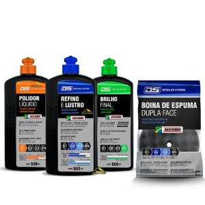Kit Polimento MaxiRubber Completo