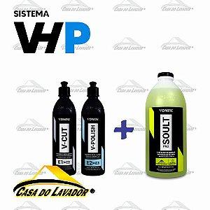Combo Polimento Sistema VHP Vonixx + Limpador de Boinas Concentrado 3L