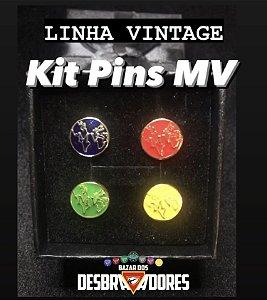 Kit Pins MV - LINHA VINTAGE (Frete Grátis BR)