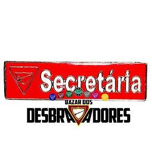 DISTINTIVO FUNÇÃO UNIDADE SECRETÁRIA - METAL